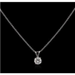 0.68ct Diamond Pendant With Chain - 14KT White Gold