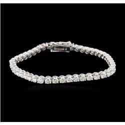 14KT White Gold 7.22ctw Diamond Tennis Bracelet