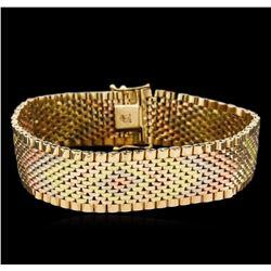18KT Tri Color Gold Bracelet