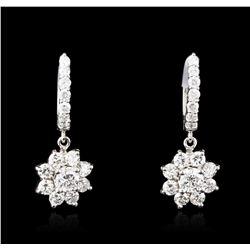 14KT White Gold 2.28ctw Diamond Earrings