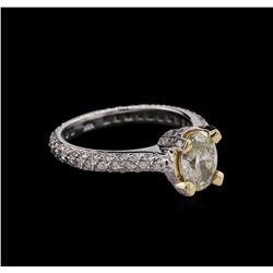 1.53ctw Diamond Ring - 14KT White Gold