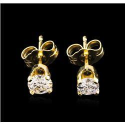 0.58ctw Diamond Stud Earrings - 14KT Yellow Gold