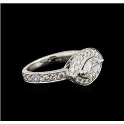 2.93ctw Diamond Ring - 14KT White Gold