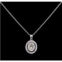 1.21ctw Diamond Pendant With Chain - 14KT White Gold