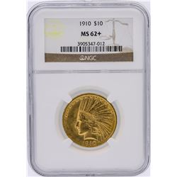 1910 NGC MS62+ $10 Indian Head Eagle Gold Coin