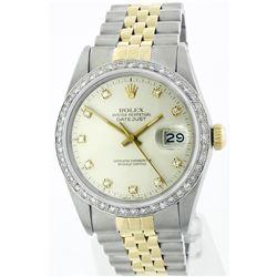 Rolex Two-Tone 1.20ctw Diamond DateJust Men's Watch
