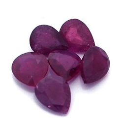 11.59ctw Pear Mixed Ruby Parcel
