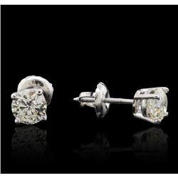 14KT White Gold 1.19ctw Diamond Solitaire Earrings