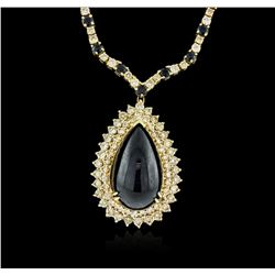 14-18KT Yellow Gold 37.95ctw Sapphire and Diamond Necklace