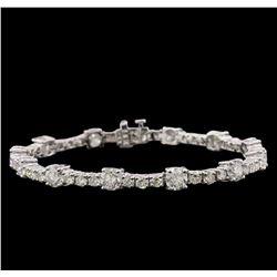 14KT White Gold 9.93ctw Diamond Tennis Bracelet