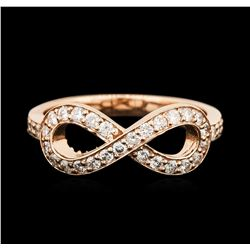 14KT Rose Gold 0.37ctw Diamond Ring