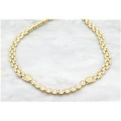0.63ctw Diamond Necklace - 14KT Yellow Gold