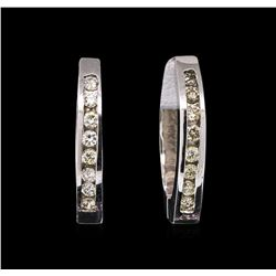 0.70ctw Diamond Earrings - 14KT White Gold