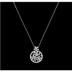 2.06ctw Diamond Pendant With Chain - 14KT White Gold
