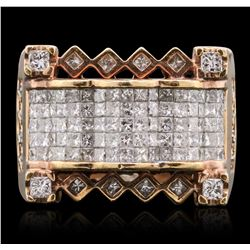 14KT Rose Gold 2.37ctw Diamond Ring