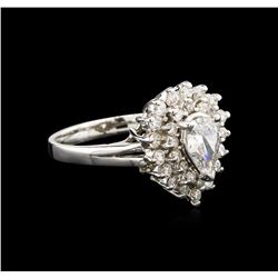1.42ctw Diamond Ring - 14KT White Gold