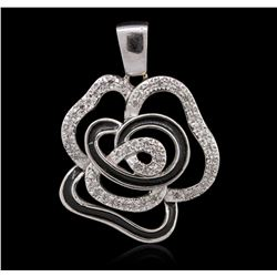 14KT White Gold 0.23ctw Diamond Pendant