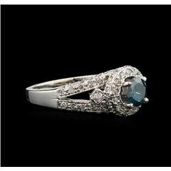 1.22ctw Fancy Blue Diamond Ring - 14KT White Gold