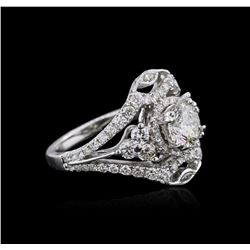 18KT White Gold 2.37ctw Diamond Ring