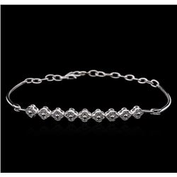 0.86ctw Diamond Bracelet - 14KT White Gold