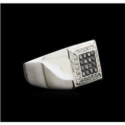 0.50ctw Black Diamond Ring - 14KT White Gold