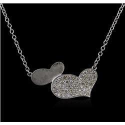 14KT White Gold 0.40ctw Diamond Necklace
