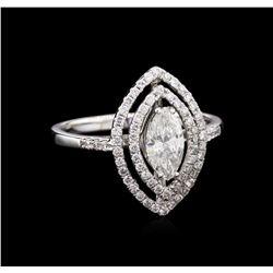 EGL INT Certified 0.98ctw Diamond Ring - 18KT White Gold