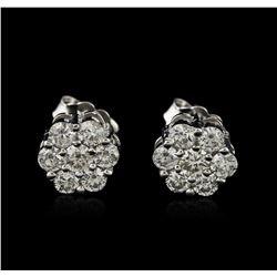 14KT White Gold 0.92ctw Diamond Earrings