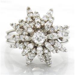 1.10ctw Diamond Ring - 14KT White Gold