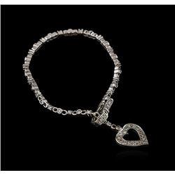 14KT White Gold 0.68ctw Diamond Bracelet