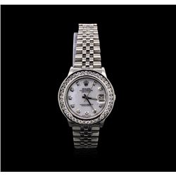 Rolex Stainless Steel 1.72ctw Diamond DateJust Mid-Size Watch
