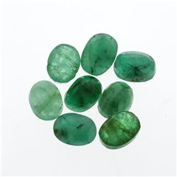 10.64cts. Oval Cut Natural Emerald Parcel