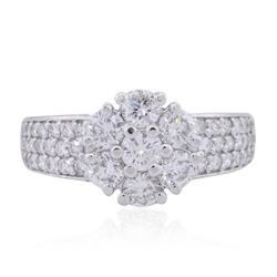 14KT White Gold 1.32ctw Diamond Ring