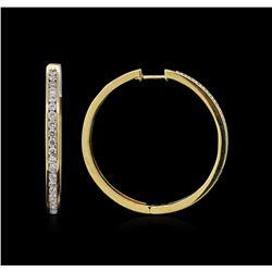 1.56ctw Diamond Earrings - 18KT Yellow Gold