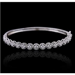 14KT White Gold 2.30ctw Diamond Bangle Bracelet