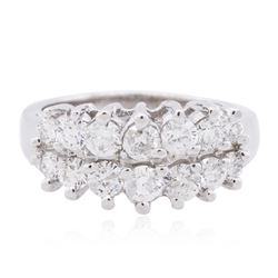 14KT White Gold 1.07ctw Diamond Ring