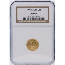 1995 NGC Graded MS69 $5 American Eagle Gold Coin