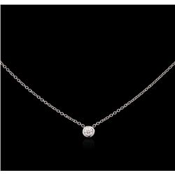 0.09ct Diamond Necklace - 14KT White Gold