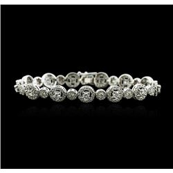14KT White Gold 4.56ctw Diamond Bracelet
