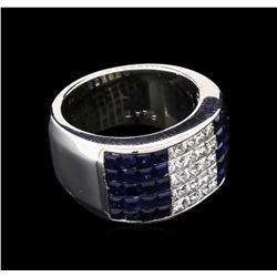 1.20ctw Blue Sapphire and Diamond Ring - Platinum