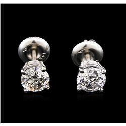 1.50ctw Diamond Stud Earrings - 14KT White Gold