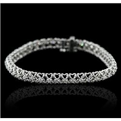 14KT White Gold 1.13ctw Diamond Tennis  Bracelet
