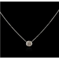 14KT White Gold 0.26ct Diamond Necklace