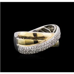 14KT Two-Tone Gold 0.47ctw Diamond Ring
