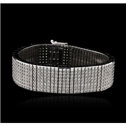 14KT White Gold 15.43ctw Diamond Bracelet