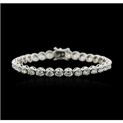 18KT White Gold 9.66ctw Diamond Tennis Bracelet
