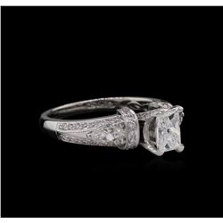 GIA Cert 1.52ctw Diamond Ring - 18KT White Gold
