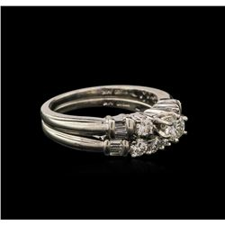 1.08ctw Diamond Wedding Ring Set - Platinum