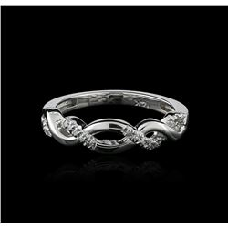 14KT White Gold 0.08ctw Diamond Ring