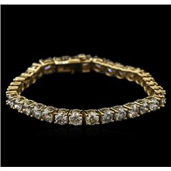 14KT Yellow Gold 16.07ctw Diamond Tennis Bracelet